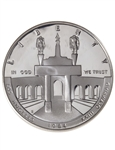 United States of America 1984 1 Dollar Silver Coin - Olympic Coliseum