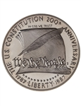 United States of America 1987 1 dollar Silver Coin - U.S. Constitution Bicentennial