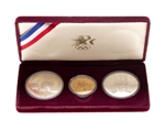 United States of America 1983 $10 Proof Set - Discus Thrower, Olympic Coliseum, Torch Bearers Gold