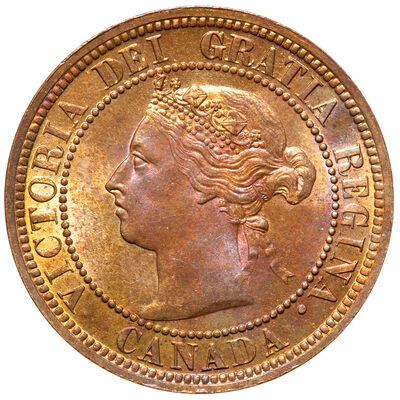 1 cent 1887 Red MS-64