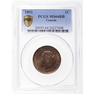1 cent 1893 Red and Brown PCGS MS-64