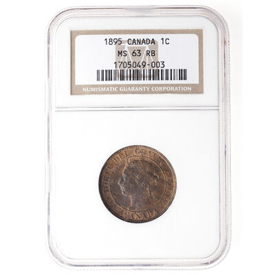 1 cent 1895 Red Brown NGC MS-63