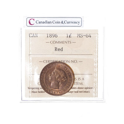 1 cent 1896 Red  ICCS MS-64