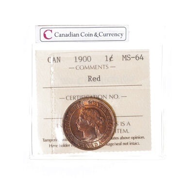 1 cent 1900  ICCS MS-64