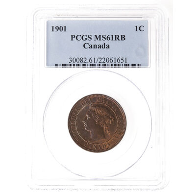 1 cent 1901 Obv 4 PCGS MS-61