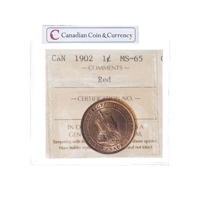 1 cent 1902 Red ICCS MS-65