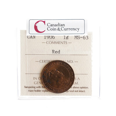 1 cent 1906  ICCS MS-63
