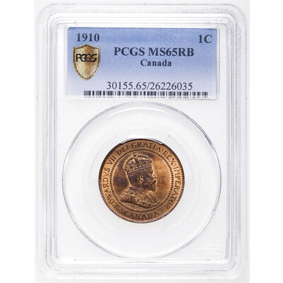 1 cent 1910 Red and Brown PCGS MS-65