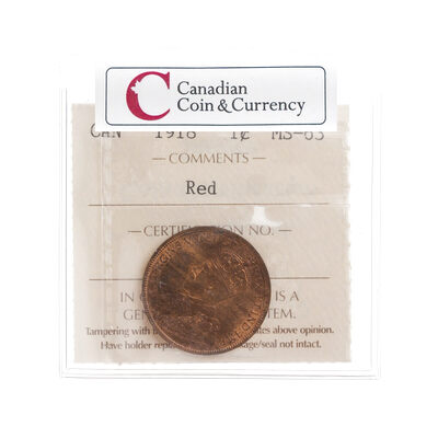 1 cent 1918  ICCS MS-63