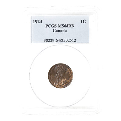 1 cent 1924 Red Brown PCGS MS-64