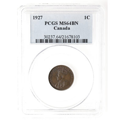 1 cent 1927 Brown PCGS MS-64
