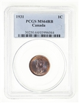 1 cent 1931 Red Brown PCGS MS-64