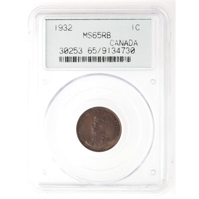 1 cent 1932 Red Brown PCGS MS-65