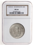 US 50C 1949 B.T. Washington NGC MS-66