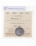 10 cent 1885 Obv 5 ICCS G-4