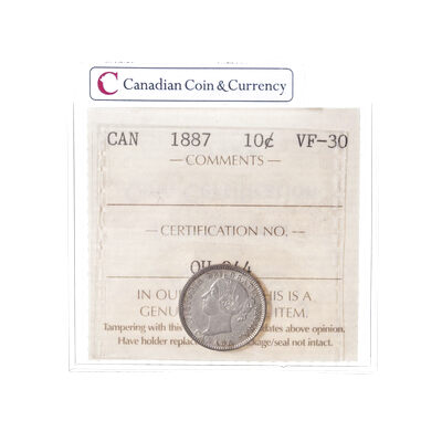 10 cent 1887  ICCS VF-30