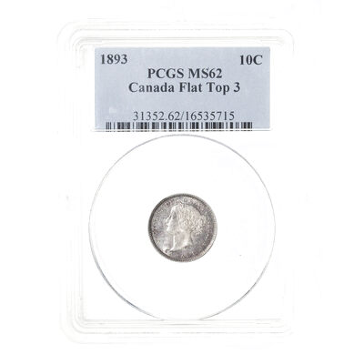10 cent 1893 Flat Top 3 PCGS MS-62