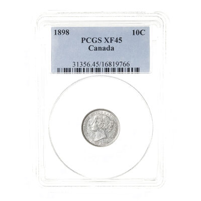10 cent 1898 Obv 6 PCGS EF-45