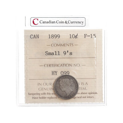 10 cent 1899 Small 9's ICCS F-15