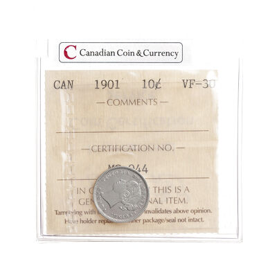 10 cent 1901  ICCS VF-30
