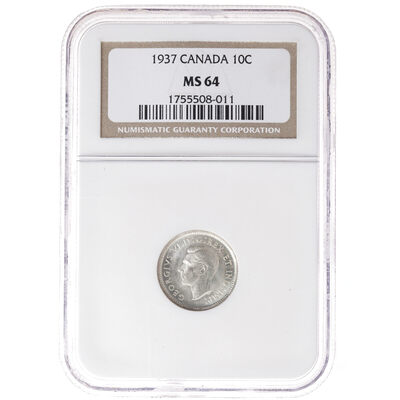 10 cent 1937  NGC MS-64