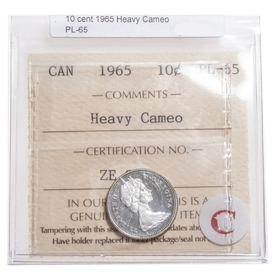 10 cent 1965 Heavy Cameo ICCS PL-65