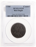 USA 1785 Conneticut Copper, Bust Facing Right PCGS VF-35
