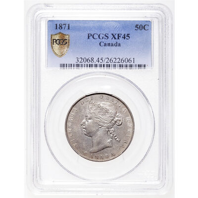 50 cent 1871 Obv 2 PCGS EF-45