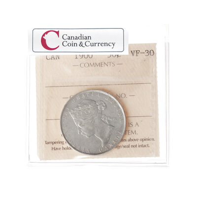 50 cent 1900 Obv 4 ICCS VF-30