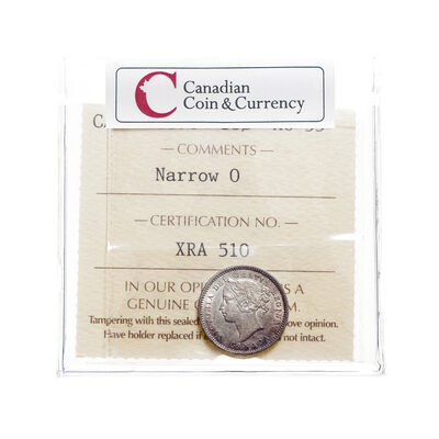 10 cent 1870 Narrow 0 ICCS AU-55