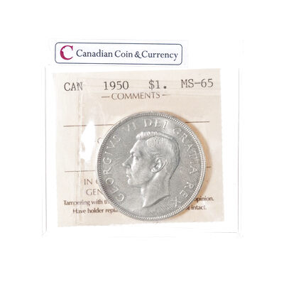 1 Dollar 1950  ICCS MS-65