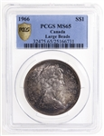 1 Dollar 1966 LgeBds PCGS MS-65