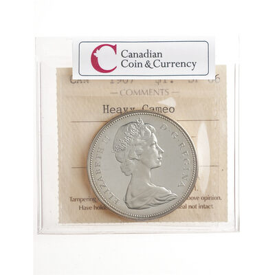 1 Dollar 1967 Heavy Cameo ICCS SP-66