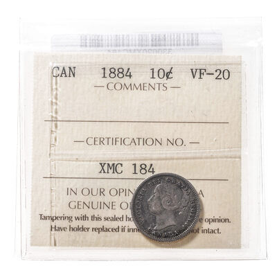 10 cent 1884  ICCS VF-20
