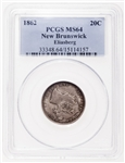 NB 20 cent 1862 Eliasberg PCGS MS-64