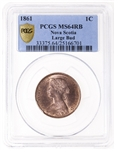 NS 1 cent 1861 Large Bud PCGS