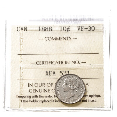 10 cent 1888  ICCS VF-30