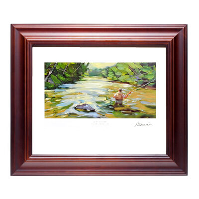 2005 Limited Edition Fishing Flies Framed Lithograph on Canvas - Quiet Pleasures