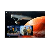 Star Trek Lenticular Souvenir Sheet Enlargement Stamp Set