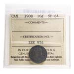 10 cent 1908  ICCS SP-64