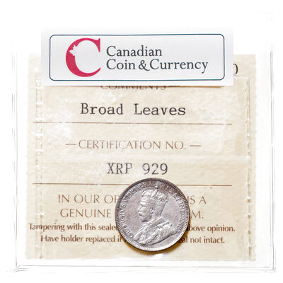 10 cent 1913 Broad Leaves ICCS VF-20
