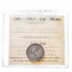 10 cent 1917  ICCS MS-64