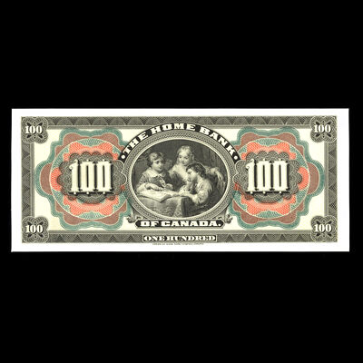 The Home Bank of Canada $100 1904