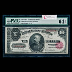 US $10 Treasury Note 1891 Rosecrans-Nebeker Small Red PMG CUNC-64