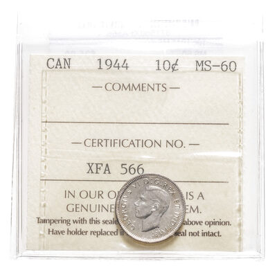 10 cent 1944  ICCS MS-60