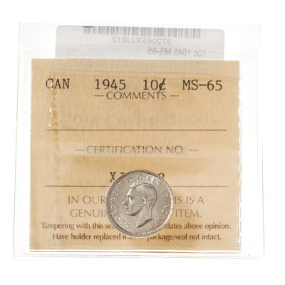 10 cent 1945  ICCS MS-65