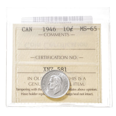 10 cent 1946  ICCS MS-65