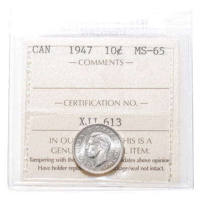 10 cent 1947  ICCS MS-65
