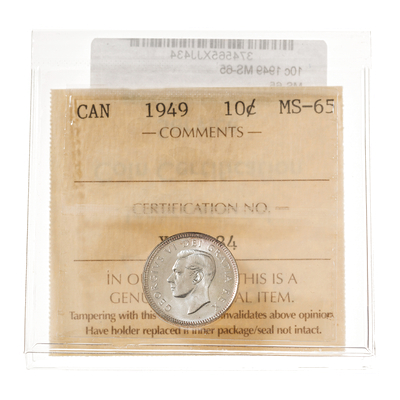 10 cent 1949  ICCS MS-65