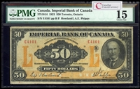 The Imperial Bank of Canada $50 1923 Howland, l. PMG F-15